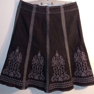 d & co embroidered skirt.